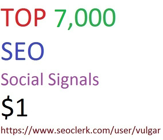 7,000 Social Signals From Top 3 Social Media Websites Increase Your SEO Ranking
