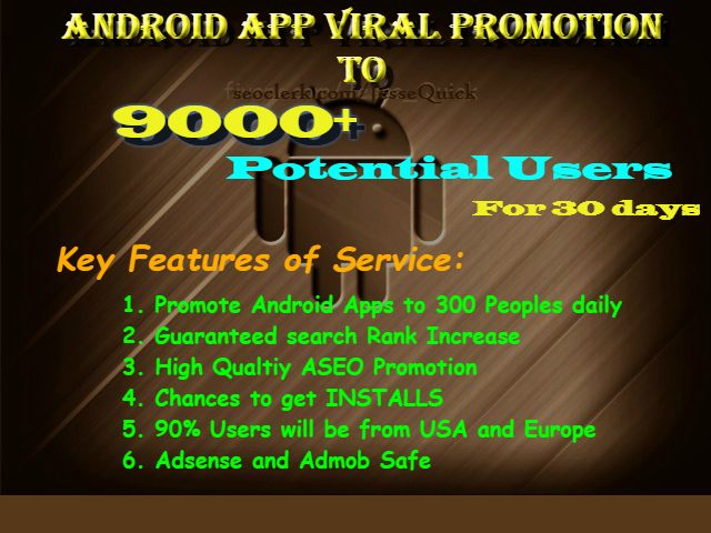 Do Viral App Promotion And Drive Potential Traffics For 30 Days