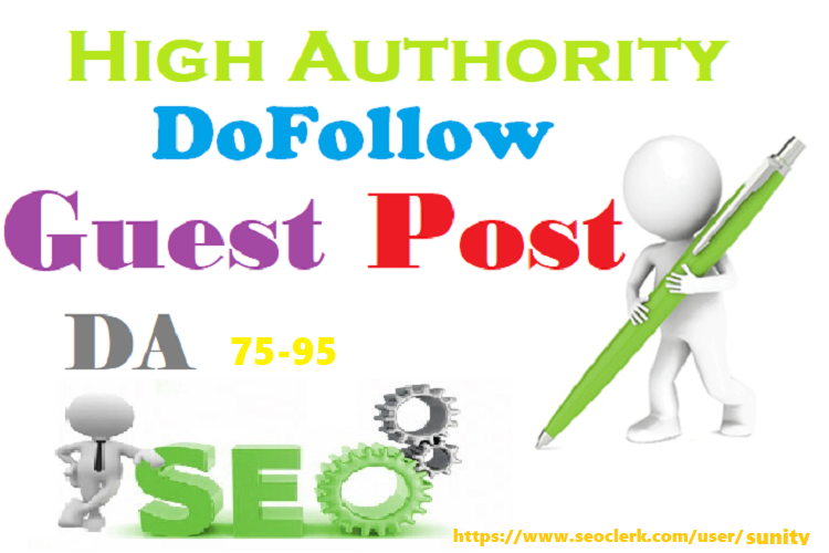 Write Publish 10 X High Authority Guest Post DA 93-45...