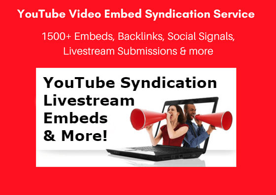 1500+ Viral YouTube SEO Embeds 500 Livestream Submissions,  Backlinks,  Signals