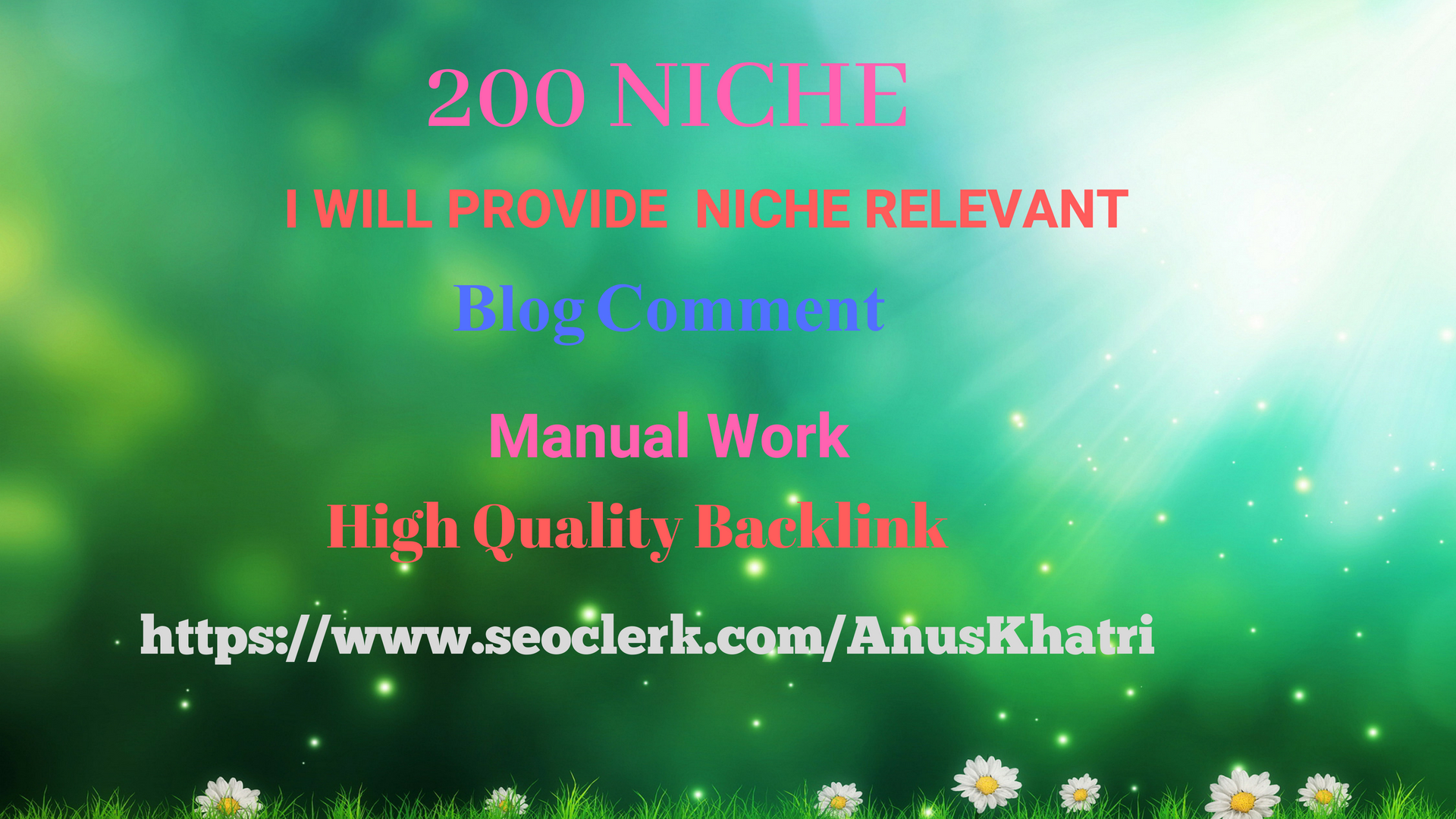 Provide 200 Niche blog comment Backlinks Of High Da in only $5