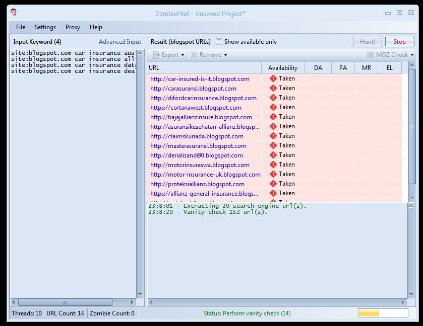 ZombiePilot - Expired Web 2.0 Hunter