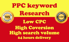Provide PPC keyword research competitor analysis 24 h...