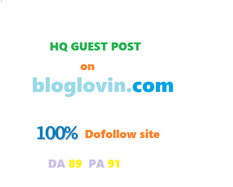 Publish guest post on BLOGLOVIN.COM dofollow DA90