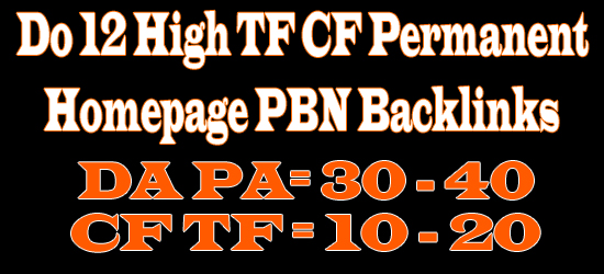 Do 25 High TF CF Permanent Homepage PBN and 1000 2nd Tire Backlinks