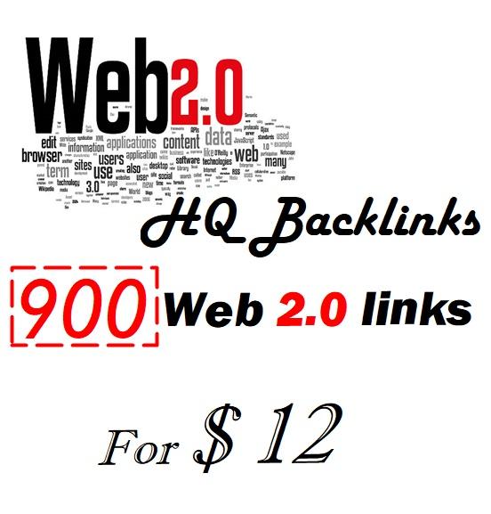 provide you 900 web 2.0 HQ backlinks