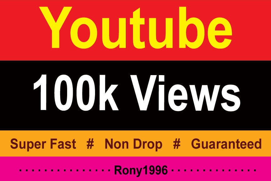 instant 100k Vieews Fully Safe, High Retention