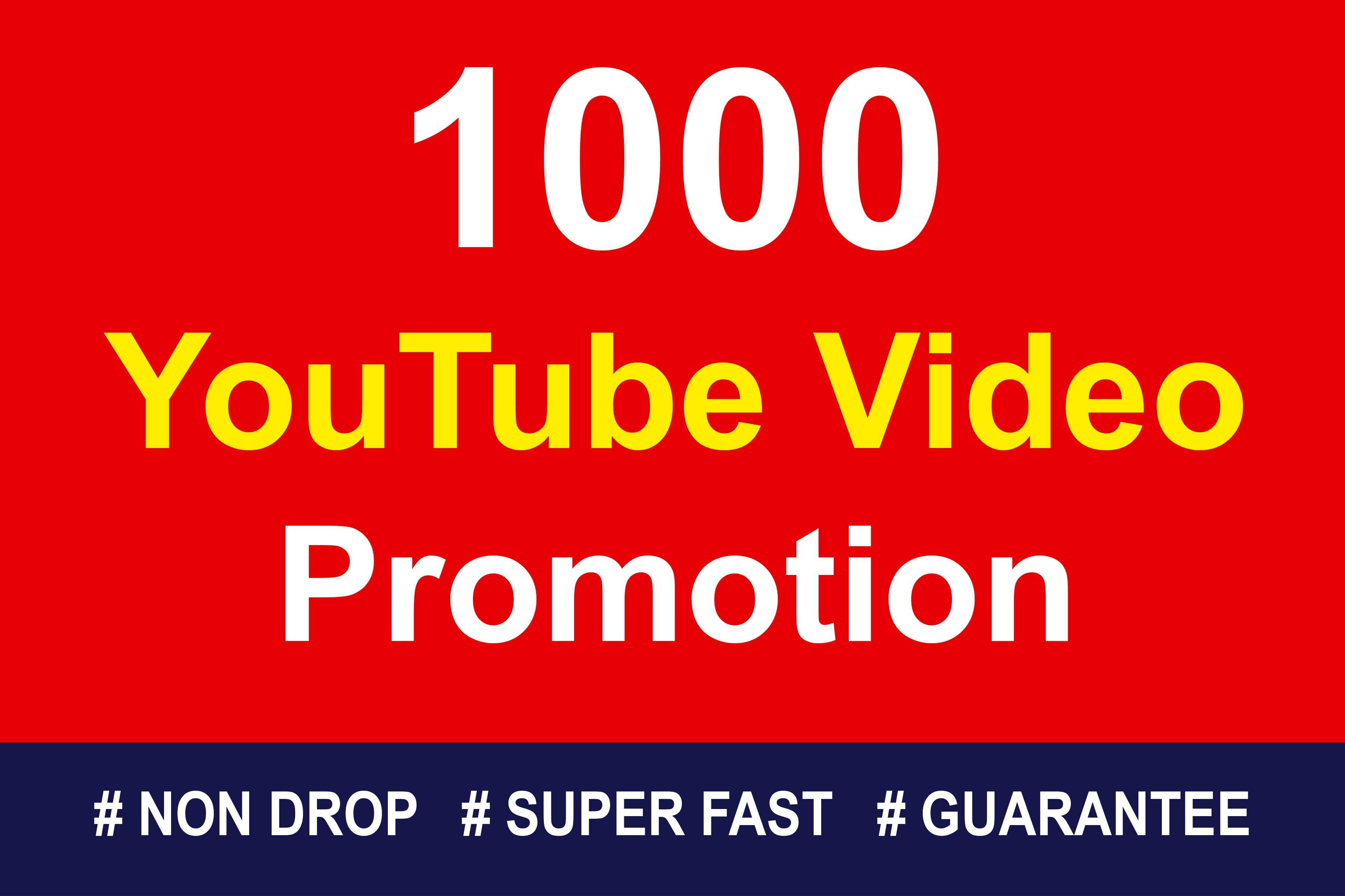 Organic High Quality YouTube Video Promotions 7 hrs Delivery