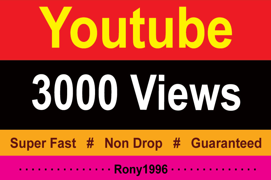 instant 3000 High Retention Youtube Vieews Lifetime Guarantee 12 Hours Delivery