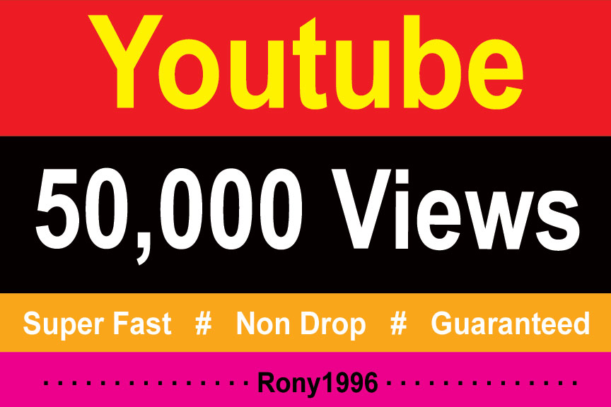 instant 50000 / 50k Youtube High Retention Vieews Fully Safe Lifetime Guarantee