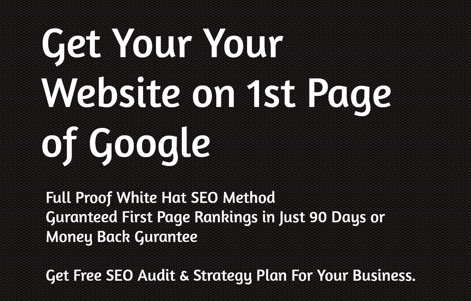 White Label SEO Services - Get Your Website on First Page of Google