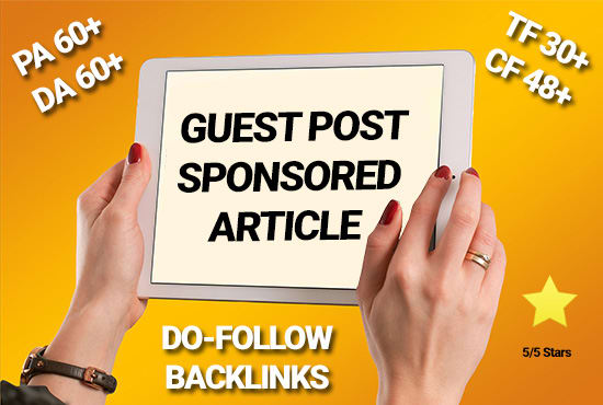 15 Real Guest Post DA 50- 95+ High PR Backlink No PBN Limiited Offer only