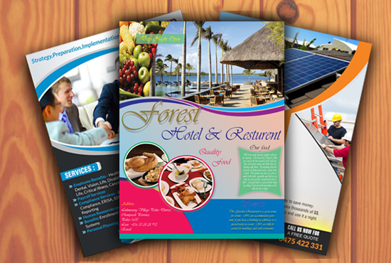 Flyer,  Brochure and poster Design Service