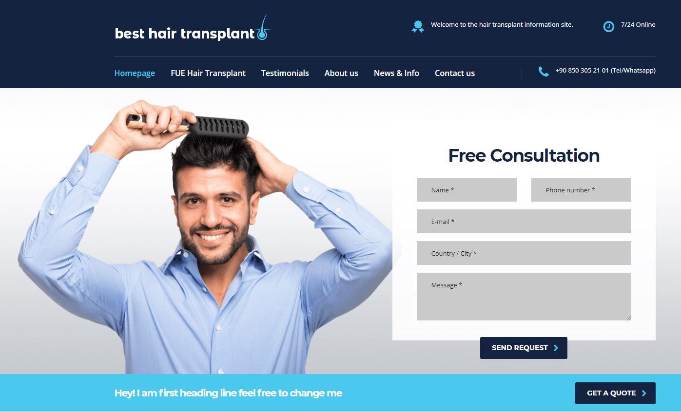 1 Permanant Hair Transplant Web Site High DA 33+ Dofollow PBN Link