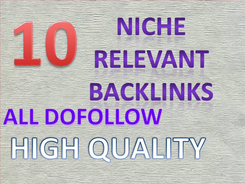 manually do 1 niche relevant links for your theme