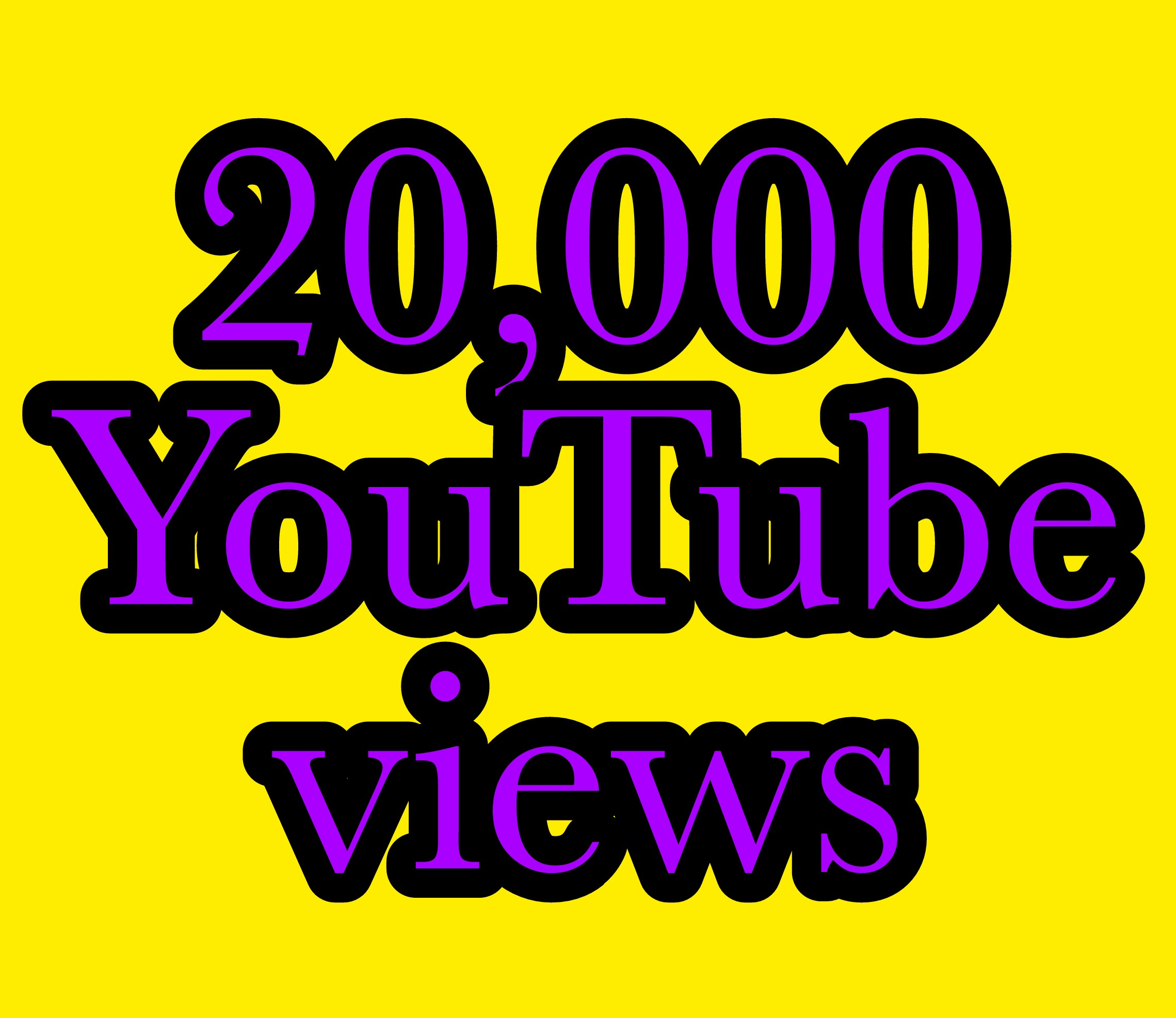 20,000+ You Tube Vie ws nondrop super fast work