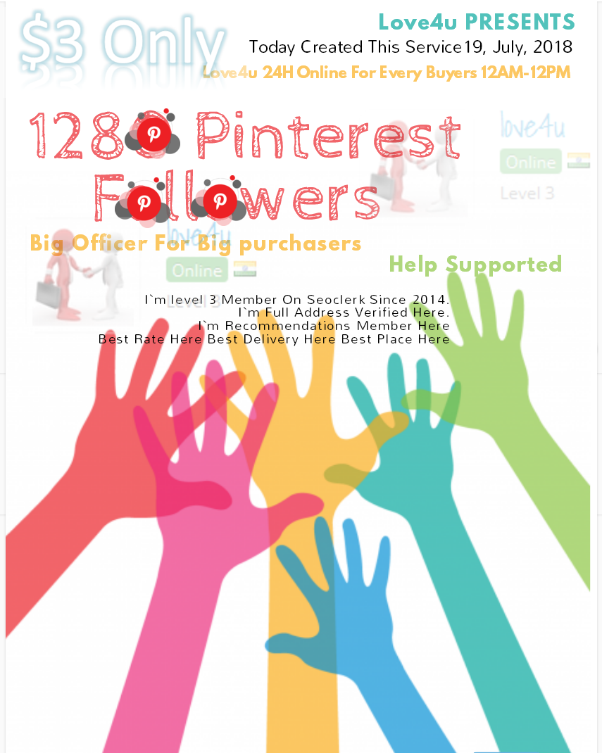 Get 1200 Pinterest Followers Real Human with world wide Followers