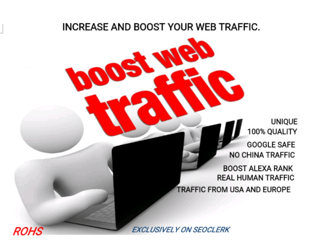 Get real UNLIMITED HUMAN TRAFFIC from Google, Twitter, Youtube etc for 30 days