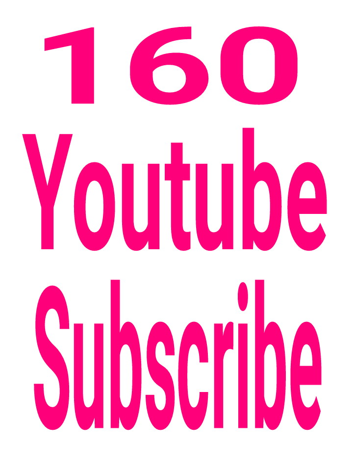 160 Youtube chanel subscribe real active and permanent  with fast delivery within 6-8hours.