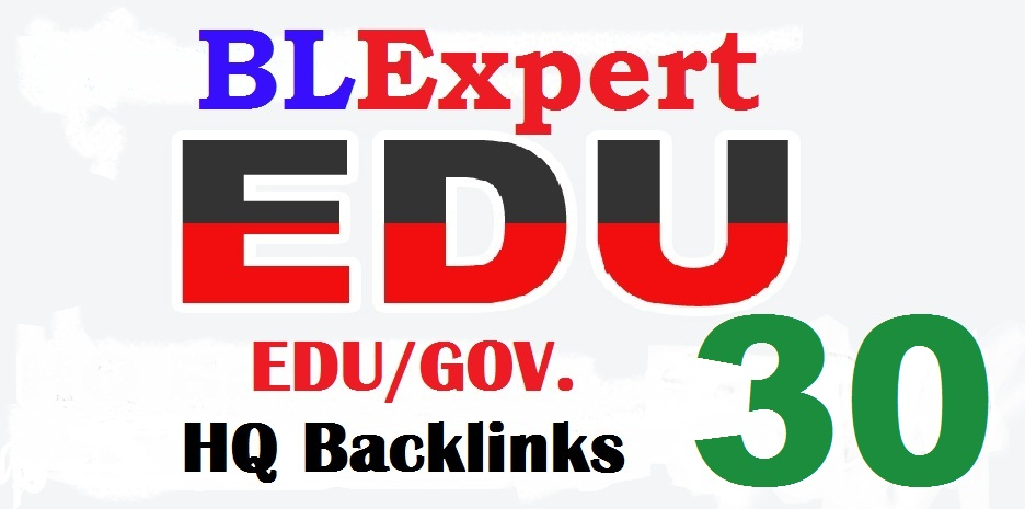 Perfect 30 EDU/GOV SEO backlinks create for your website