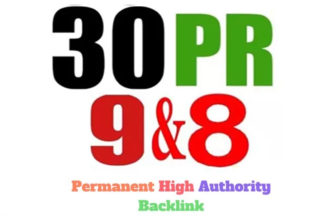 30 PR9 DA 80UP SEO Profile backlinks
