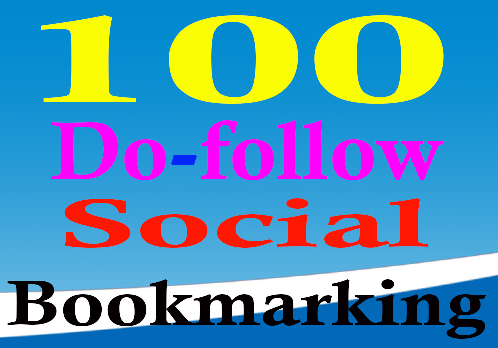 Manually Do 100 do-follow social bookmarking seo backlinks with ping