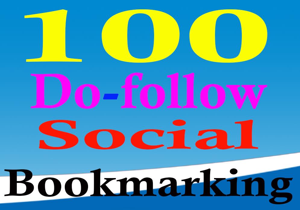 Manually Do 100 do-follow social bookmarking seo backlinks with ping