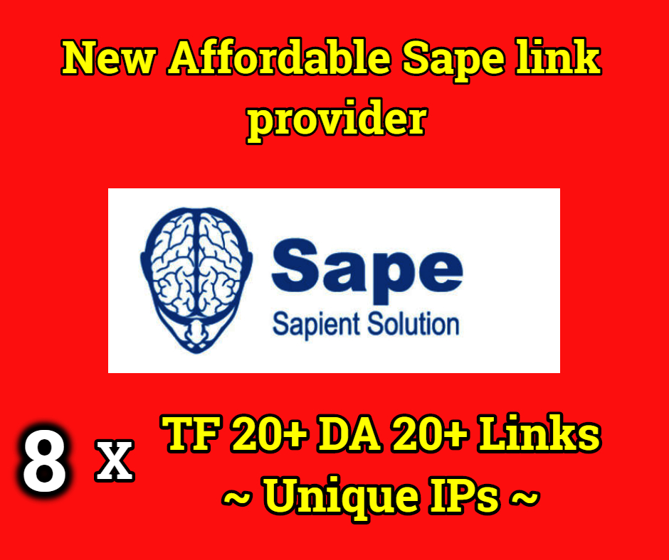 POWERFUL 7x TF 20 DA 20 Google Indexed Sape Links