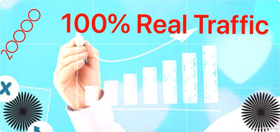 Send 20000 Real website traffic to your website Or blog