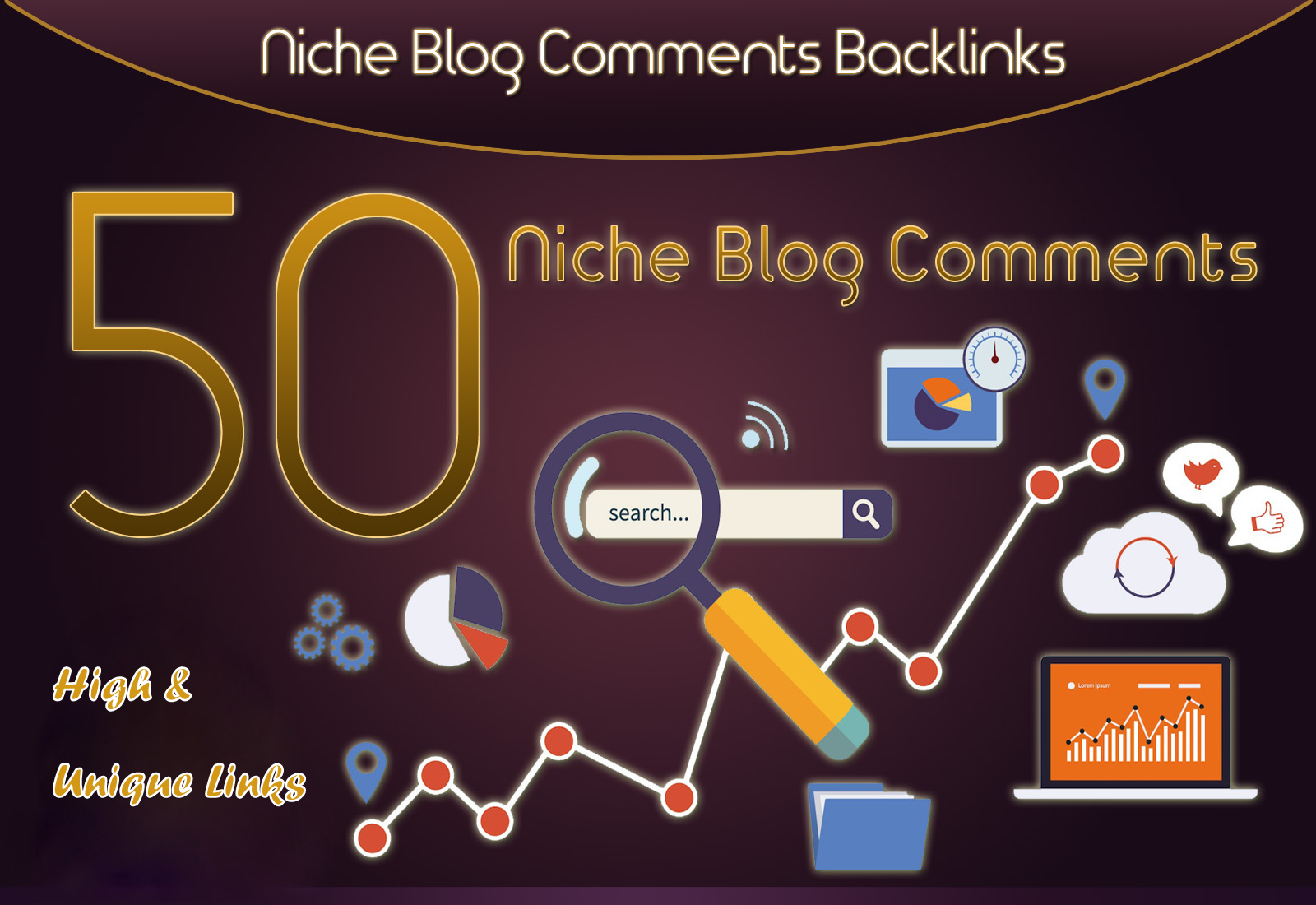 Do 50 Manual Niche Blog Comments On High Da Links