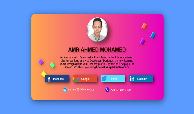 Creative Personal Website Card