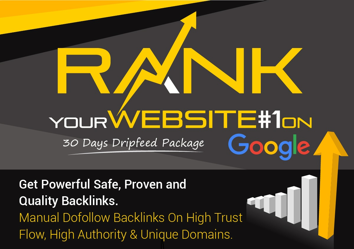 """I Will "" Rank Your Website On Google, 30 Days SEO Backlinks Manually"