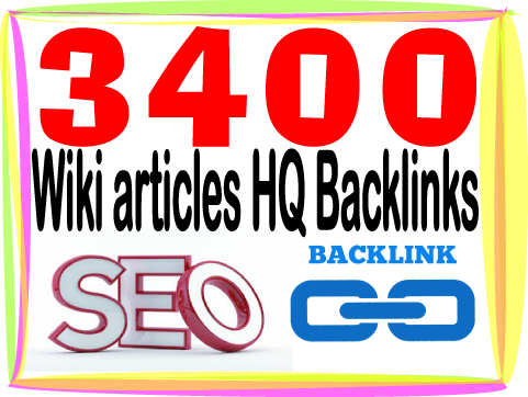 Submit you 3400 HQ PR Panda safe Wiki articles backlinks