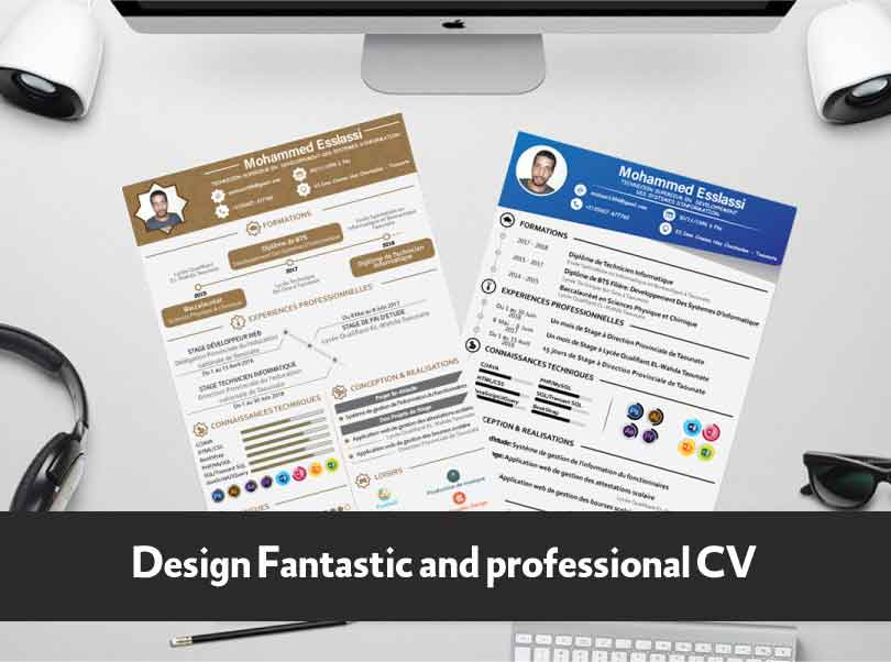 Design Fantastic and professional CV English - French