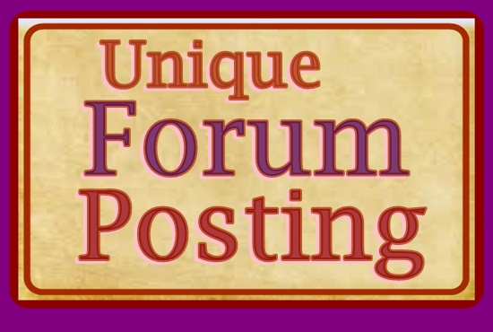 Offer 30 Quality Forum Posting