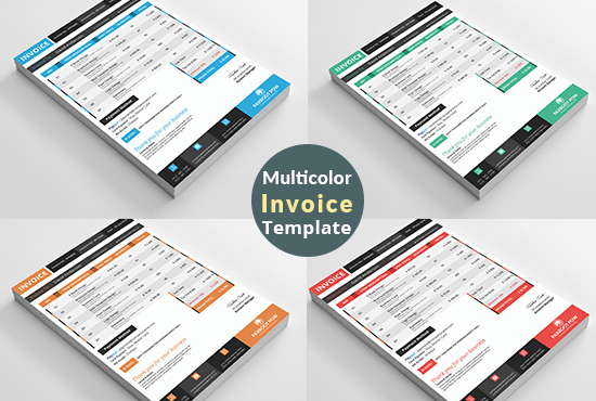 Modern Business Invoice Ms Excel, Word, Google Docs For You