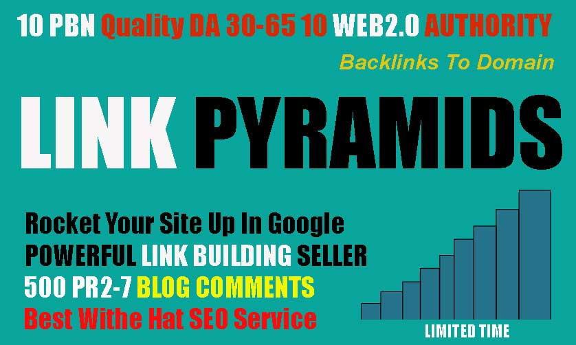 Boost Your Ranking BY Best LINK PYRAMIDS With 10 Permanent PBN Homepae Backlinks for your website
