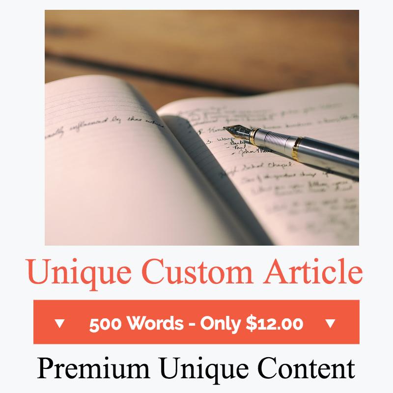 Unique Custom Article