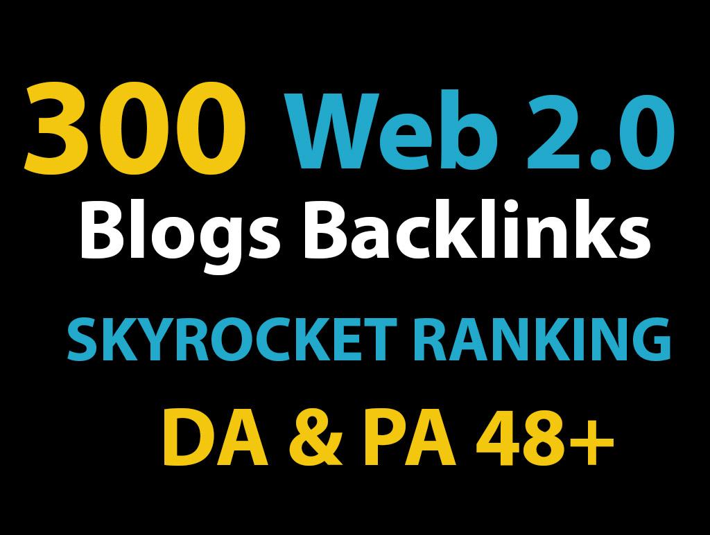 3200 Web 2.0 Do follow TA DA 48+ PR1-PR9 Power booster backlinks