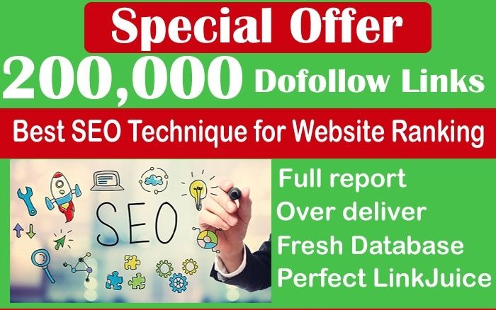 Seo 200,000 Gsa Dofollow high Quality backlinks for G...