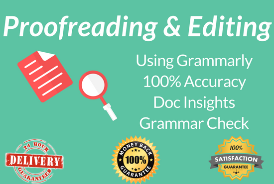 Proofread & Edit 500 words through Grammarly Premium Tool