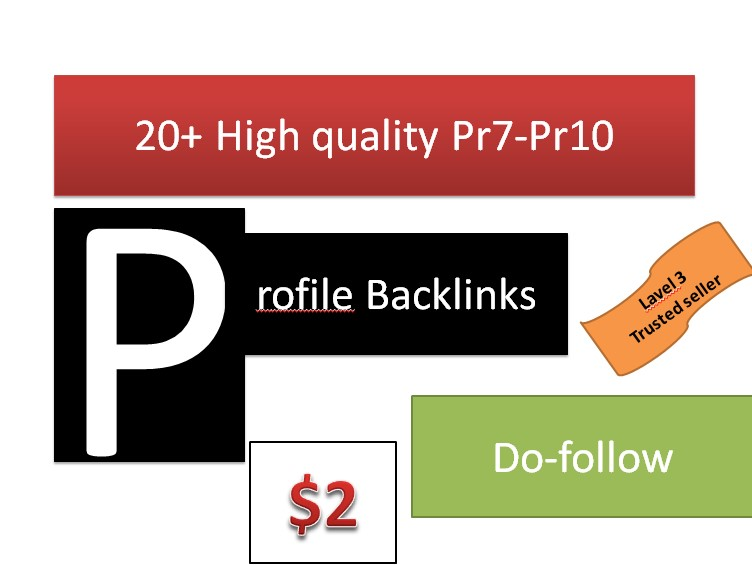 Get You 20+ high quality Profile back-links Manually ...