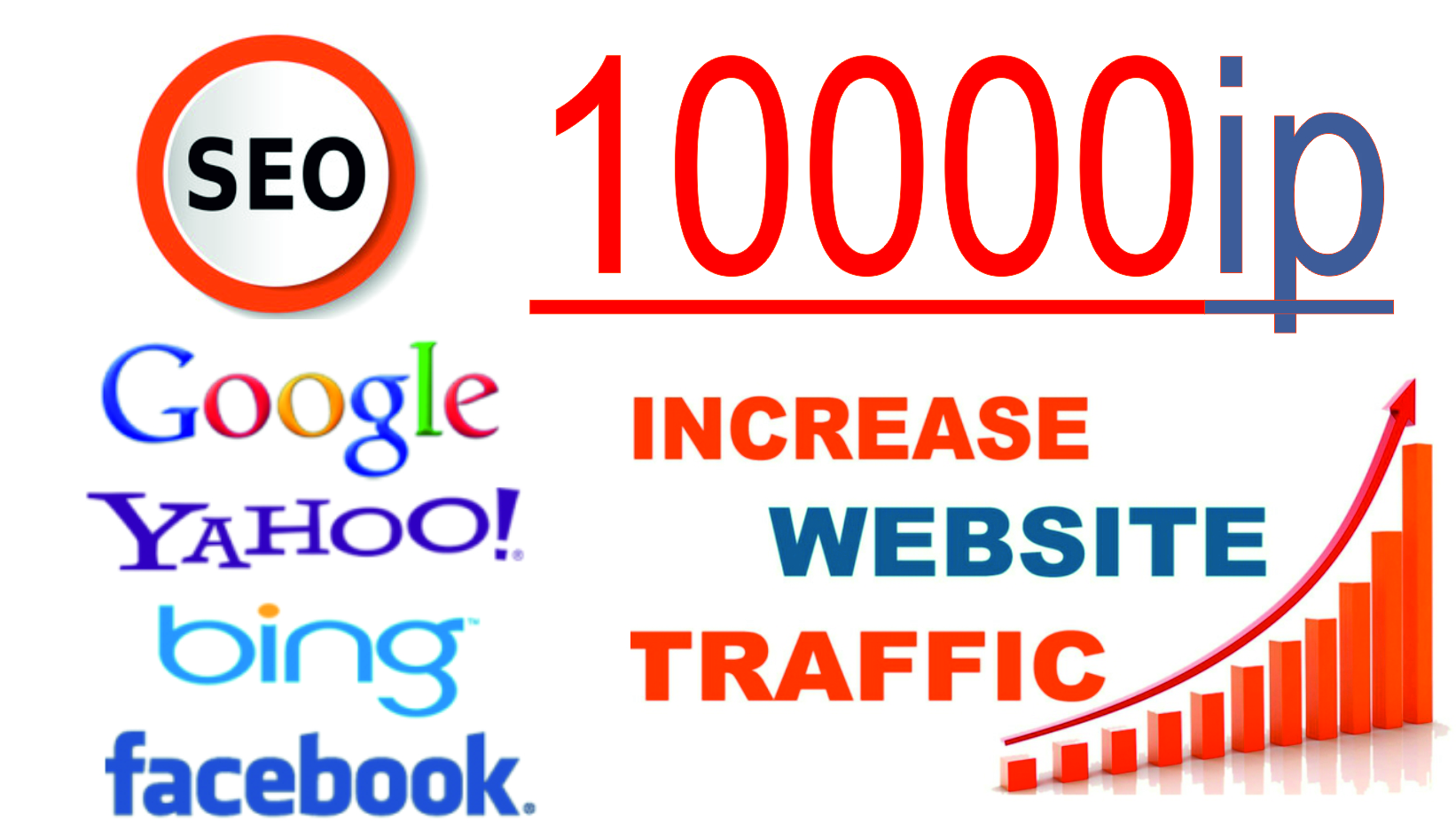 Traffic the site from 1 to 10000 ip visitors per day from any region.