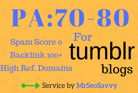 Boost Your SEO Rankings - GET 3 Expired PA 70-80 Tumblr Blogs