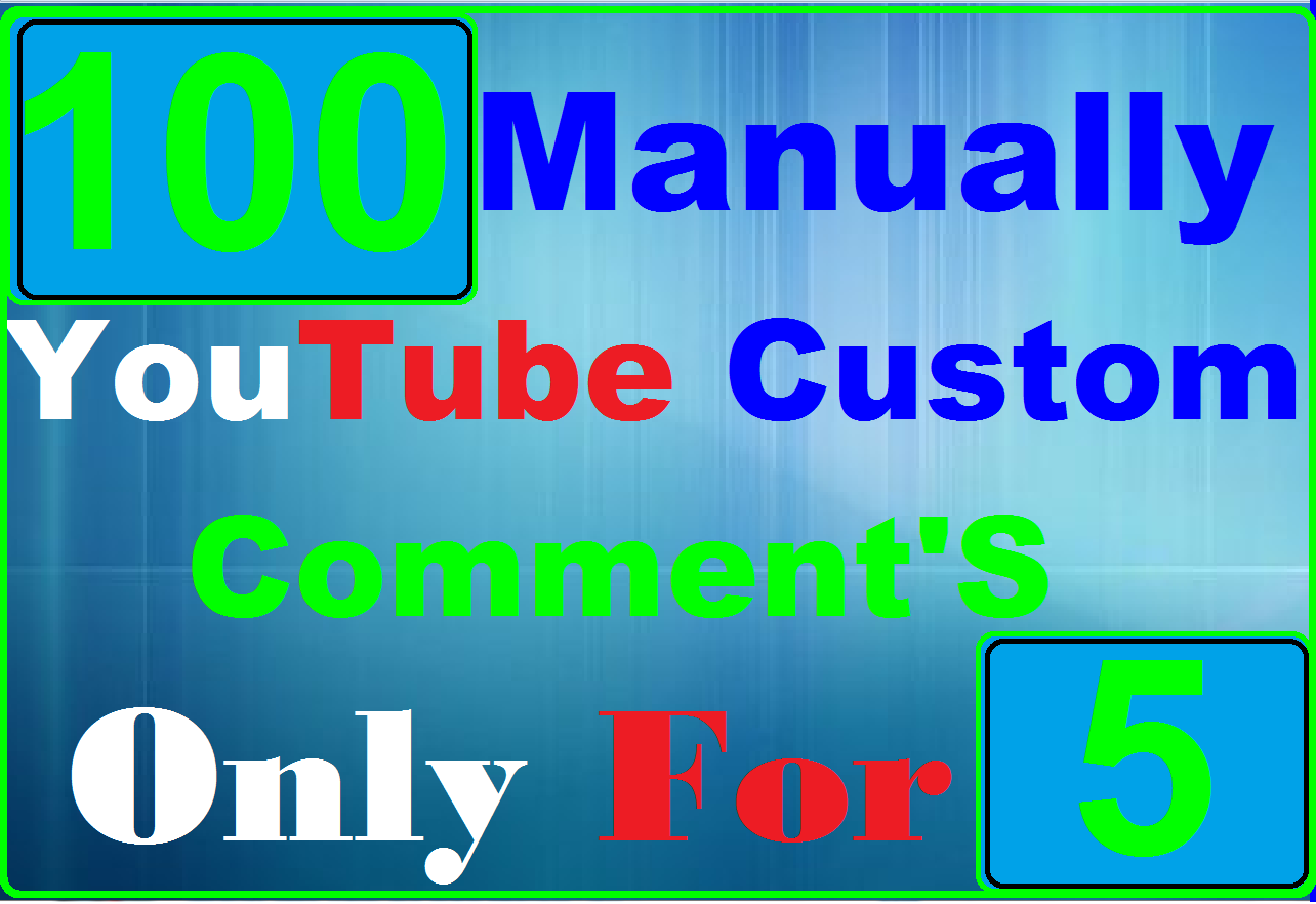 Get HQ  600+ Non Drop You_Tube Subs_criber's  Or  100+ HQ Profile You_Tube Custom Com_ment's