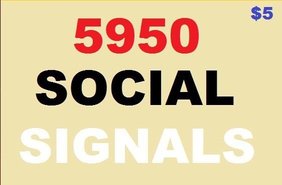 5950 social signals 4500 web likes, 1000 pocket share...