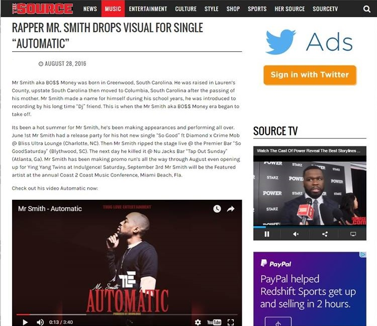 Music/Video Featured on TheSource.com