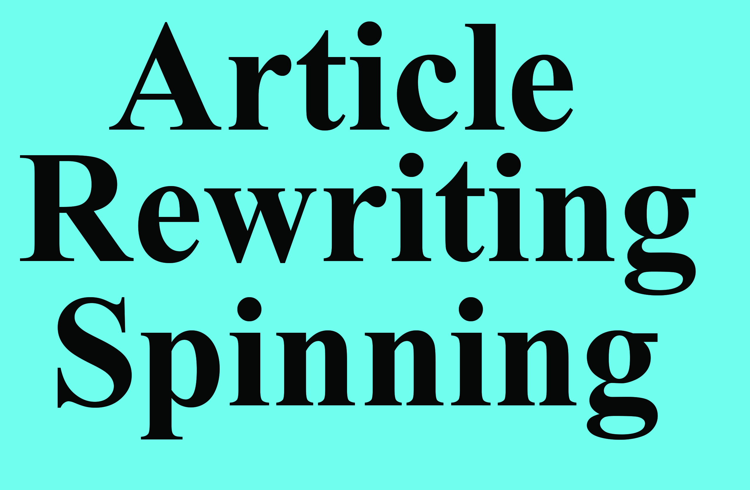 Rewriting Or Spinning Articles Up to 1.000 words