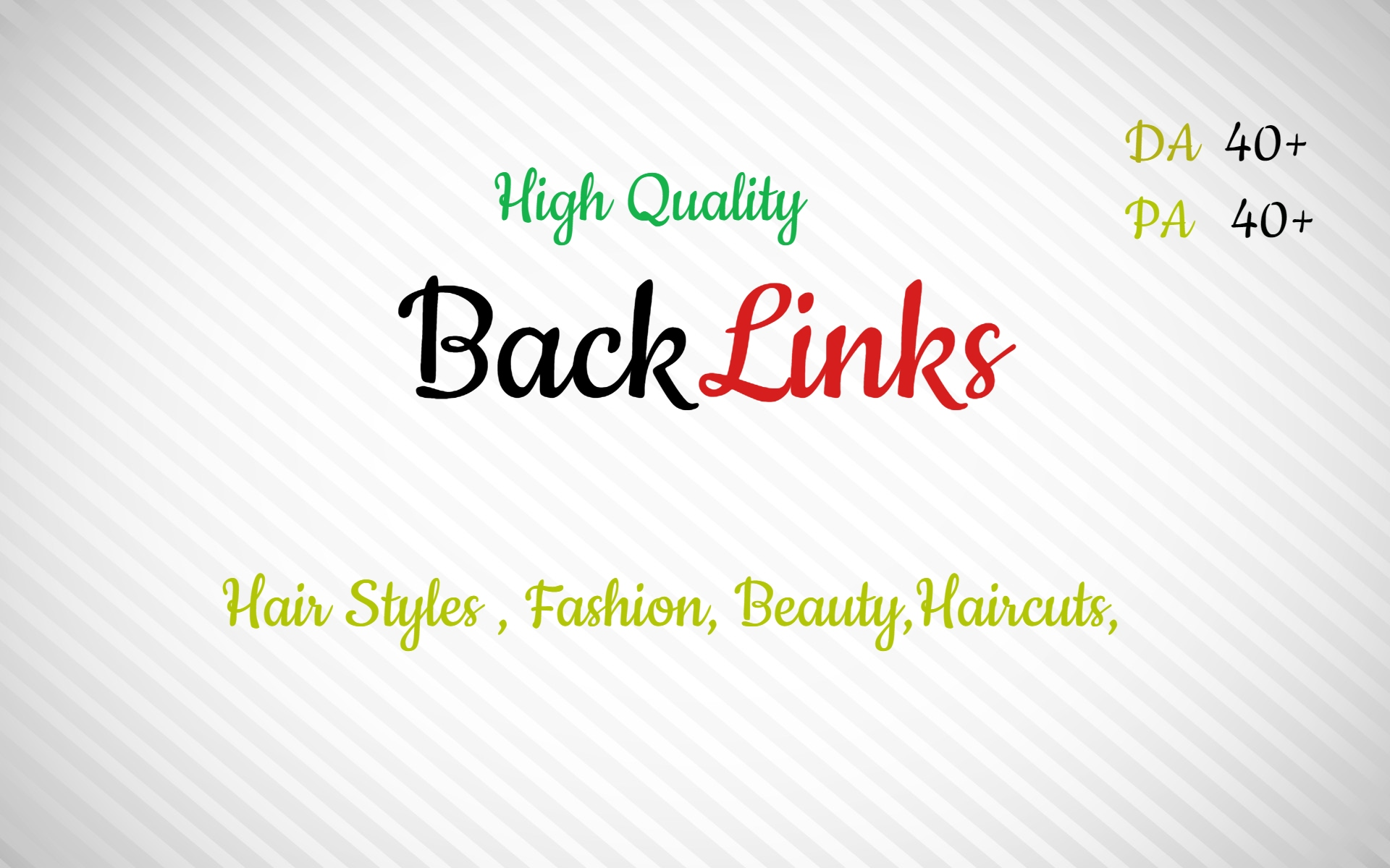 Backlink site of hairstyles and fashion. Build High PR quality backlinks PA DA 40+