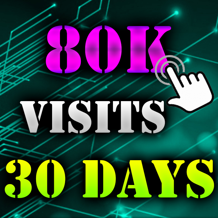 80K Visitors to your Website 30 DAYS